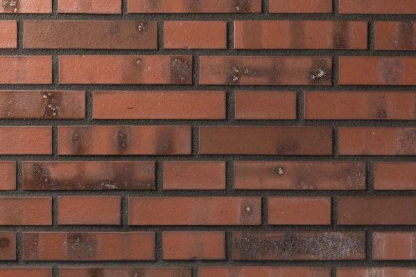 Strangpress-Klinker / Verblender BK-101-102-DF (Dünnformat-Klinkerstein (DF)) rot - bunt -Kohle