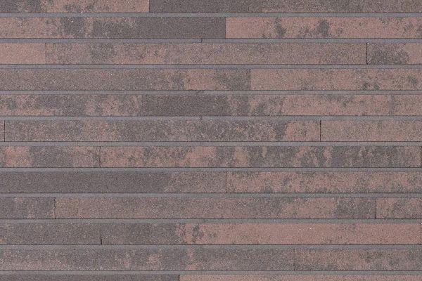 Strangpress-Riemchen BK-R-118-112-ModF (Modulformat (ModF)) braun, grau naunciert (Klinkerriemchen)