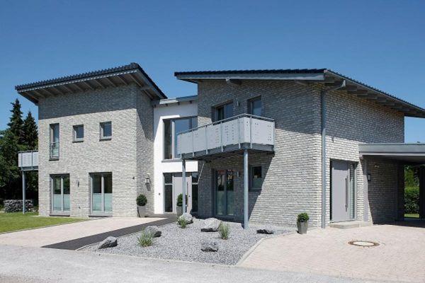 Mehrfamilienhaus / Stadtvilla H1 mit Klinker 103-148-WDF grau