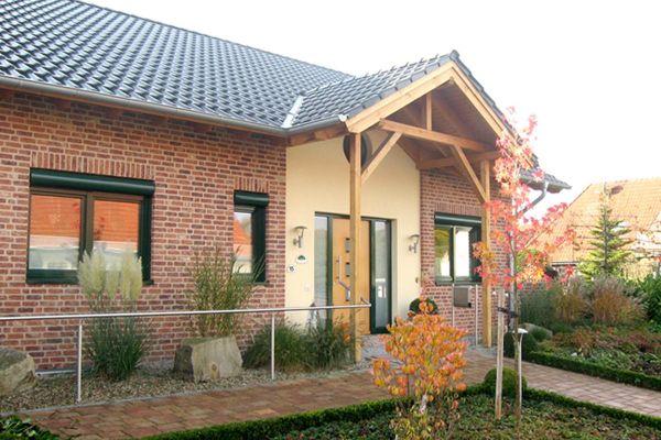Einfamilienhaus H2 mit Klinker 103-189-WDF rot - blau - bunt