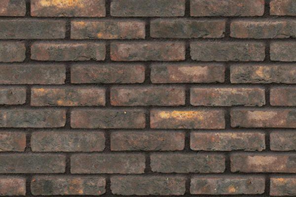 Handform-Riemchen BK-R-103-439 (Waalformat (WF)) braun - beige nuanciert (Klinkerriemchen)