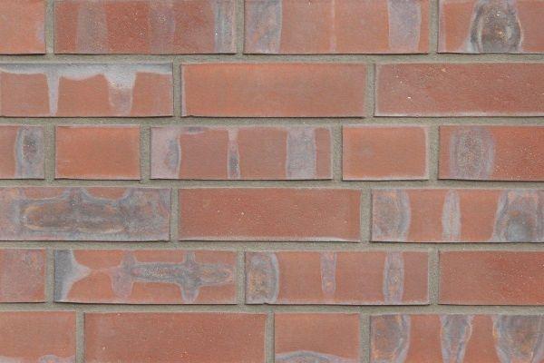 Strangpress-Riemchen BK-R-117-223-NF (Normalformat (NF)) rot nuanciert (Klinkerriemchen)