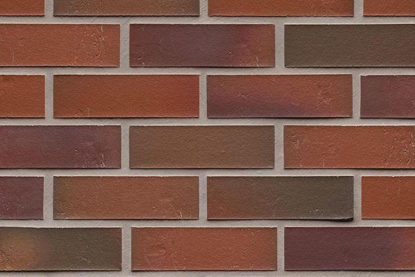 Strangpress-Riemchen BK-R-114-714 (Normalformat (NF)) rot - bunt  nuanciert (Klinkerriemchen)