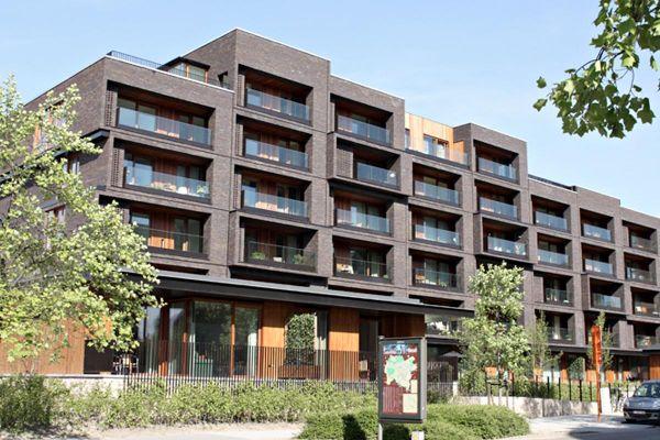 Mehrfamilienhaus  H1 mit Klinker 103-186-WF braun, rot - blau nuanciert