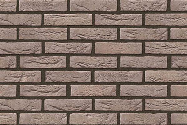 Handform-Riemchen BK-R-103-163 (Waaldickformat (WDF)) braun - grau nuanciert (Klinkerriemchen)