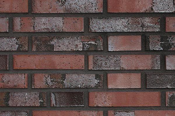 Strangpress-Klinker / Verblender BK-108-116-NF rot, Kohle Normalformat (NF)