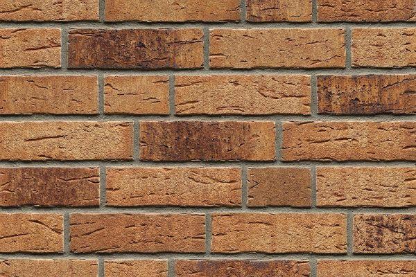 Strangpress-Riemchen BK-R-114-665 (Normalformat (NF)) beige - braun nuanciert (Klinkerriemchen)