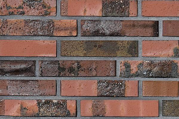 Strangpress-Klinker / Verblender BK-108-147-DF rot-braun Dünnformat (DF)