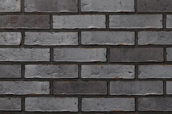 Strangpress-Klinker / Verblender BK-102-126-ModF anthrazit - grau nuanciert Modulformat (ModF)
