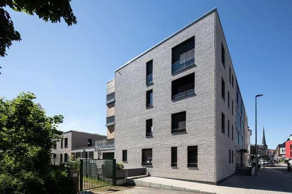 Mehrfamilienhaus H1 mit Klinker 102-135-DF grau