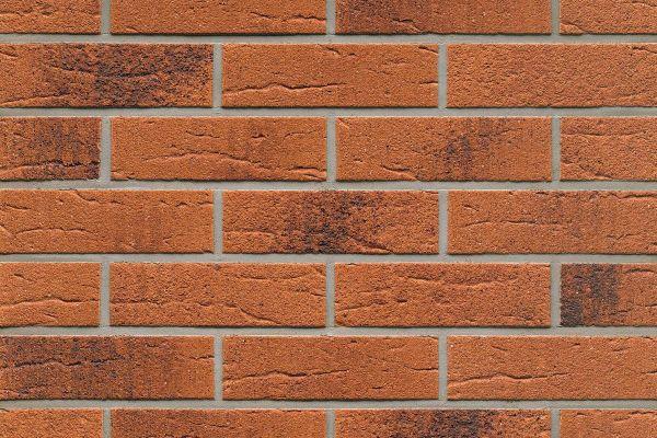 Strangpress-Riemchen BK-R-114-228 (Normalformat (NF)) rot - braun  nuanciert (Klinkerriemchen)
