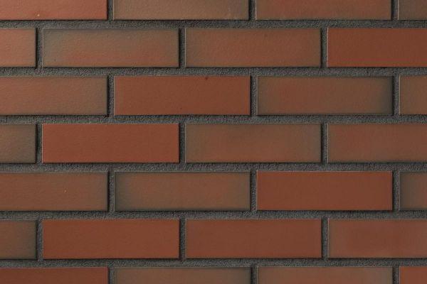 Strangpress-Riemchen BK-R-104-10 (Normalformat (NF)) rot geflammt (Klinkerriemchen)