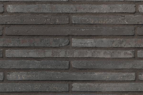 Wasserstrich-Klinker / Verblender BK-107-120-ModF schwarz-grau Modulformat (ModF)