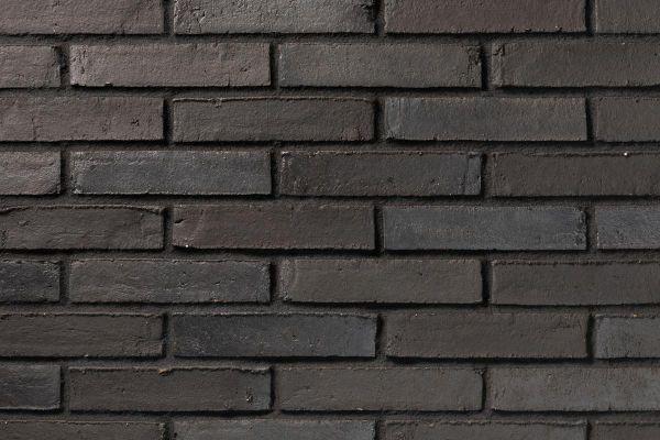 Wasserstrich-Klinker / Verblender BK-112-118-DF (Dünnformat-Klinkerstein (DF)) schwarz - anthrazit
