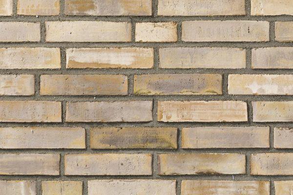 Wasserstrich-Klinker / Verblender BK-121-118-ModF (Modulformat-Klinkerstein (ModF)) beige -  sand, weiß nuanciert