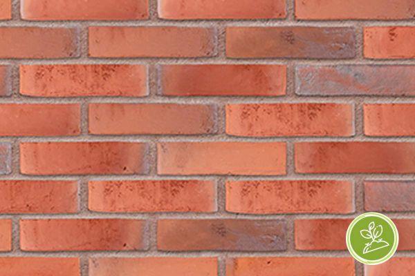 Wasserstrich-Riemchen BK-R-103-373 (Waalformat (WF)) rot (Klinkerriemchen)