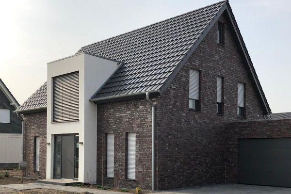 Einfamilienhaus mit Klinker 101-151-NF braun - rot - bunt