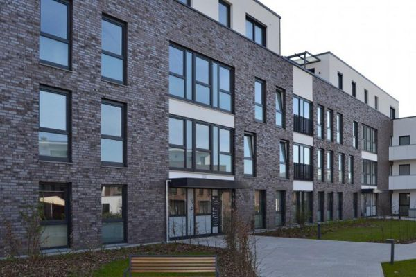 Mehrfamilienhaus / Bürogebäude H2 mit Klinker 103-181-NF braun-rot