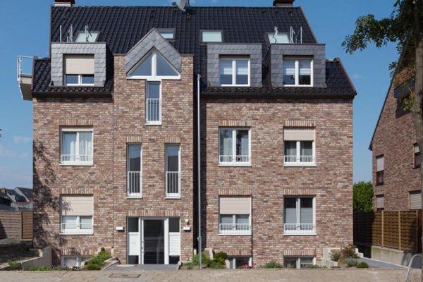 Mehrfamilienhaus  H1 mit Klinker 103-179-NF braun - beige -bunt