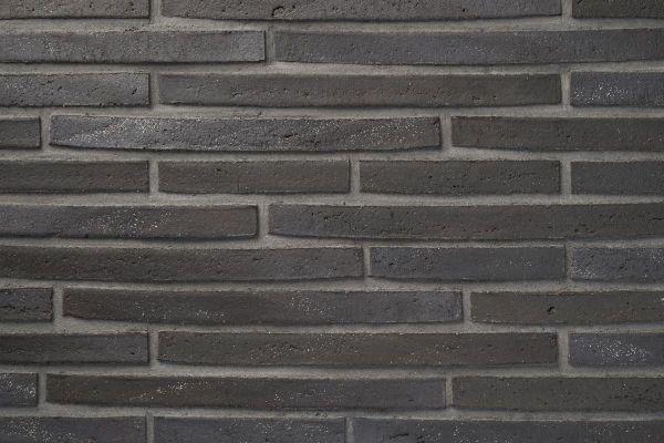 Wasserstrich-Klinker / Verblender BK-122-101-ModF (Modulformat-Klinkerstein (ModF)) grau nuanciert, anthrazit