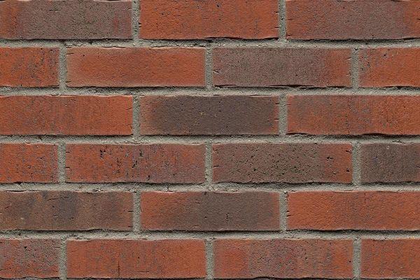 Strangpress-Riemchen BK-R-114-16 (Normalformat (NF)) rot nuanciert (Klinkerriemchen)