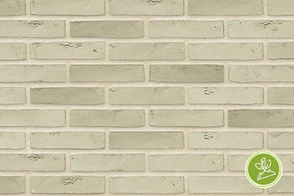 Wasserstrich-Riemchen BK-R-103-418 (Waalformat (WF)) weiß, grau nuanciert (Klinkerriemchen)