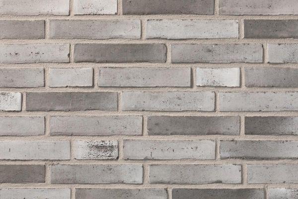 Wasserstrich-Klinker / Verblender BK-110-113-DF (Dünnformat-Klinkerstein (DF)) grau - weiß nuanciert