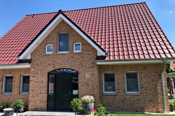 Einfamilienhaus / Landhaus H3 mit Klinker 104-107-NF gelb-bunt
