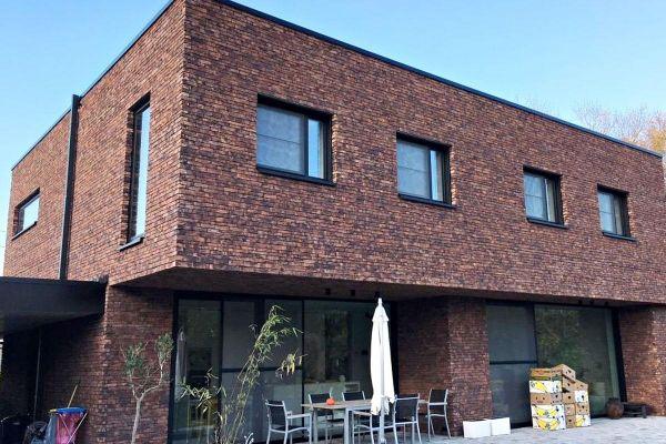 Bauhaus  H2 mit Klinker 103-180-WF braun - bunt