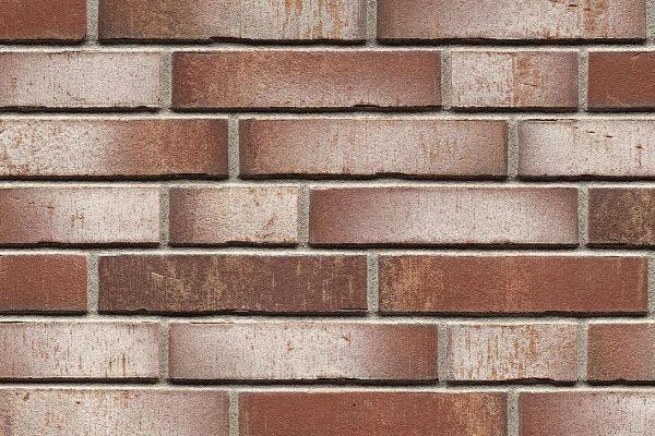 Strangpress-Riemchen BK-R-114-923 (Normalformat (NF)) rot - weiß nuanciert (Klinkerriemchen)