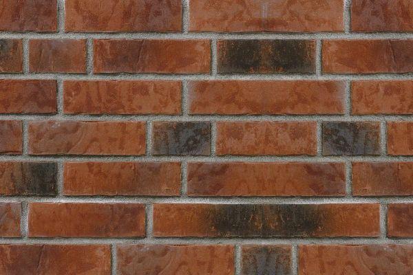 Strangpress-Riemchen BK-R-107-154-NF (Normalformat (NF)) rot nuanciert (Klinkerriemchen)