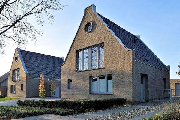 Einfamilienhaus H3 mit Klinker 103-163-WDF braun - grau nuanciert