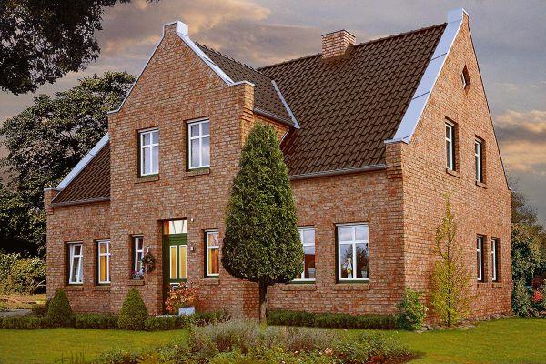 Einfamilienhaus / Landhaus H1 mit Klinker 104-108-NF rot-bunt