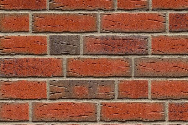 Strangpress-Riemchen BK-R-114-698 (Normalformat (NF)) rot nuanciert (Klinkerriemchen)