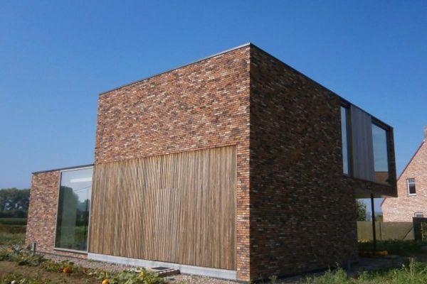 Bauhaus / Luxusvilla H3 mit Klinker 103-178-WDF rot - braun - bunt