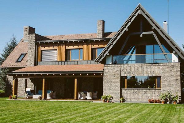 Einfamilienhaus H1 mit Klinker 103-112-WDF grau-bunt