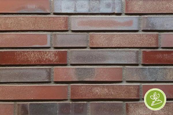Strangpress-Riemchen BK-R-117-211-DF (Dünnformat (DF)) rot, grau nuanciert (Klinkerriemchen)