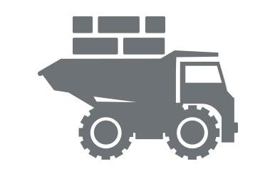 Klinker verarbeiten - Zufahrt für Lieferung sicherstellen