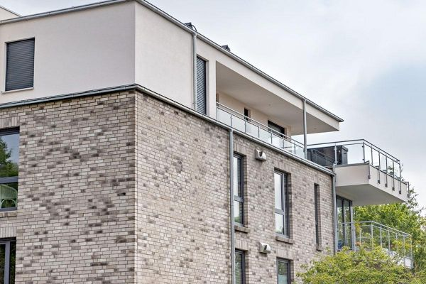 Mehrfamilienhaus H1 mit Klinker 103-152-WDF grau, antrazit nuanciert