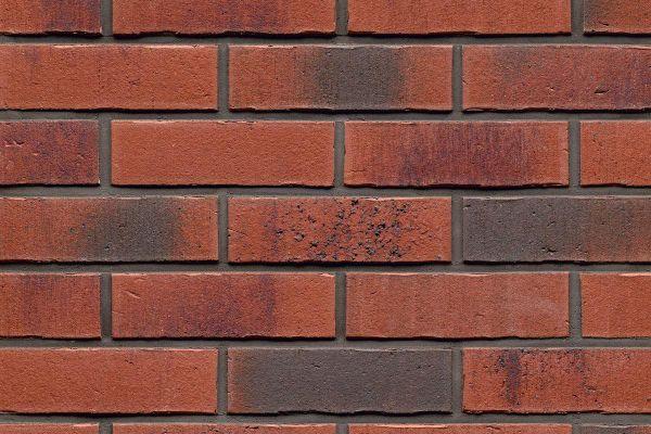 Strangpress-Riemchen BK-R-114-754 (Normalformat (NF)) rot nuanciert (Klinkerriemchen)