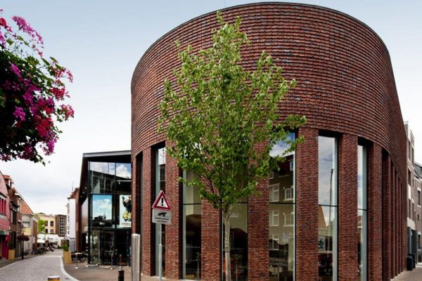 Bürogebäude H1 mit Klinker 103-175-WDF rot - blau