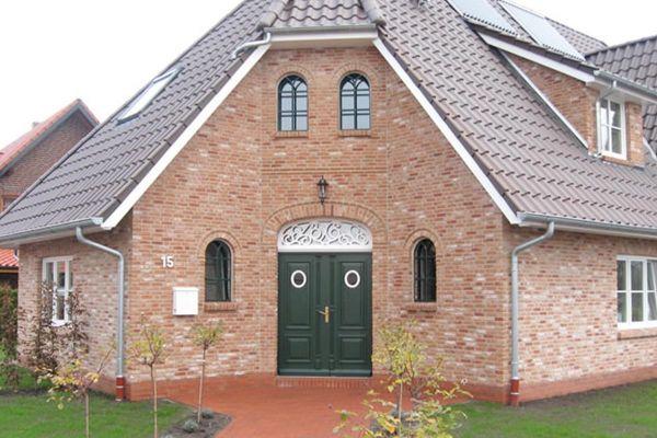 Landhaus / Einfamilienhaus H1 mit Klinker 103-212-ModF orange - rot - bunt