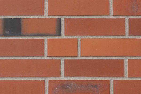 Strangpress-Riemchen BK-R-117-235-NF (Normalformat (NF)) rot nuanciert (Klinkerriemchen)