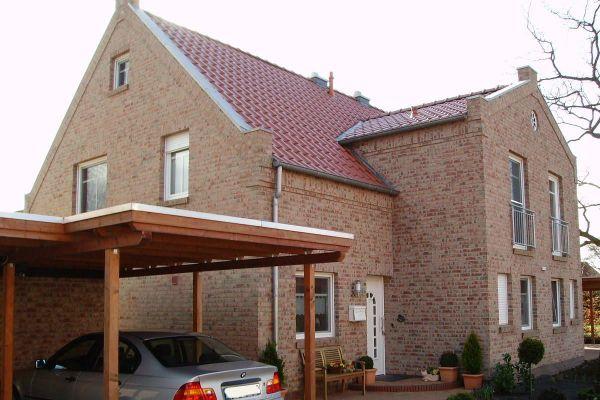Einfamilienhaus H7 mit Klinker 104-108-NF rot-bunt