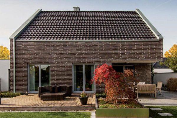 Einfamilienhaus H2 mit Klinker 101-150-ModF schwarz - bunt