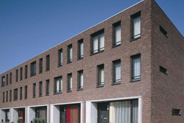 Mehrfamilienhaus  H1 mit Klinker 103-180-WF braun - bunt