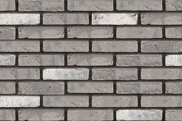 Wasserstrich-Klinker / Verblender BK-103-156-WF (Waalformat-Klinkerstein (WF)) grau-weiß