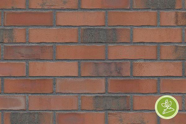 Strangpress-Riemchen BK-R-103-434 (Normalformat (NF)) rot nuanciert (Klinkerriemchen)