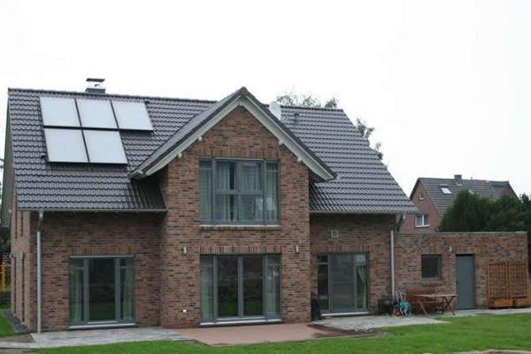 Einfamilienhaus mit Klinker 103-135-NF rot-braun