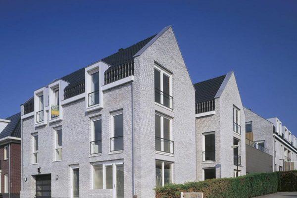 Mehrfamilienhaus H1 mit Klinker 103-146-WDF weiß, grau nuanciert